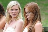 Kirsten Dunst and Isla Fisher filmed a scene.