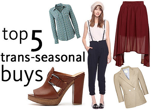 Top Five Trans-seasonal Spring Buys For Spring: Midi Skirts, Button Downs, Half Shoes, Cropped Blazer and more!