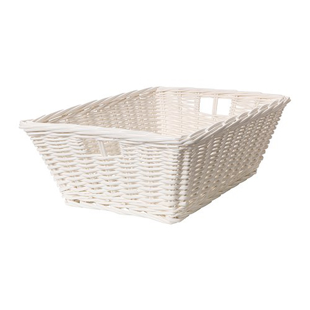 White Handwoven Basket, $24.99