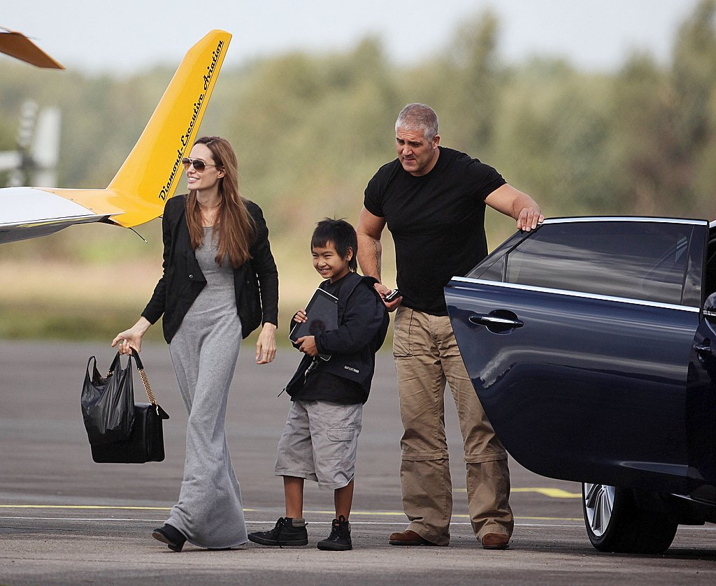 Angelina Jolie and Maddox Jolie-Pitt together in England.
