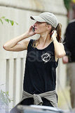 Gisele Bundchen leaves the gym.