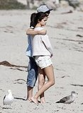 Selena and Justin shared a romantic hug.