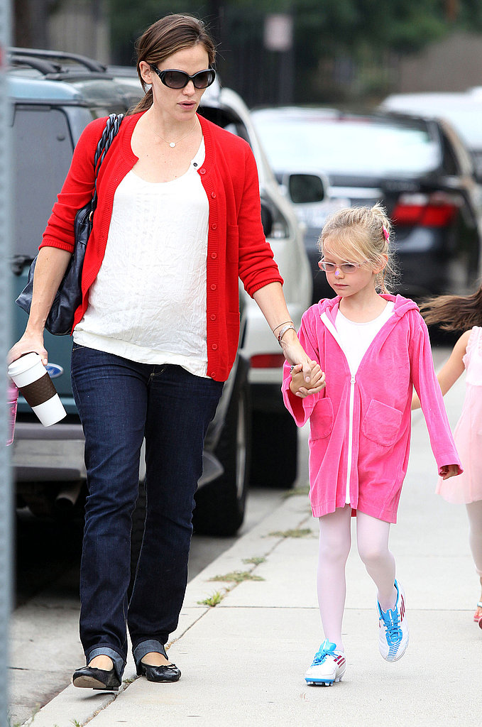 Jen and Violet stuck close heading to ballet.