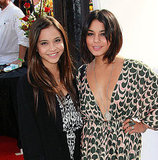 Vanessa and Stella Hudgens went to the premiere of Iris in LA on Sunday.