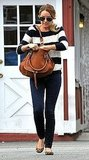 Lauren Conrad carrying a Chloé bag at Brentwood Country Mart.