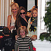 Angelina Jolie Pictures at Gwen Stefani's London Home With Kids
