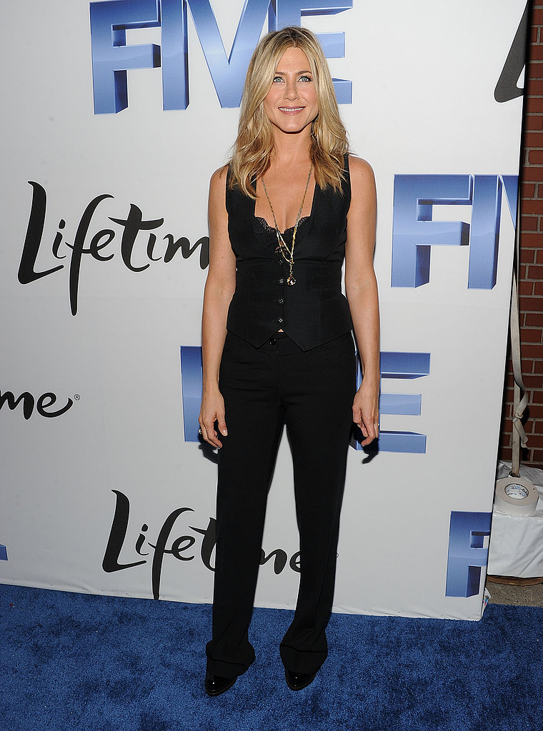 Jennifer Aniston at Five premiere in NYC.
