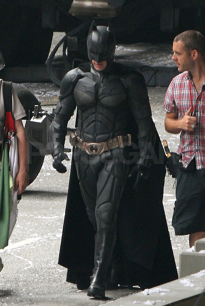 Christian Bale was back on set in his Batman costume.