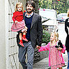 Ben Affleck Pictures at Farmers Market With Daughters