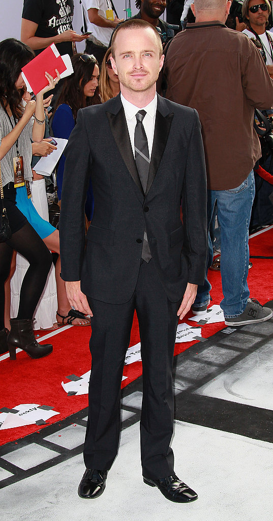 Aaron Paul suited up for the Iris premiere in LA.