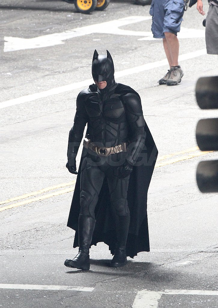 Christian Bale's Batman costume fits like a glove.