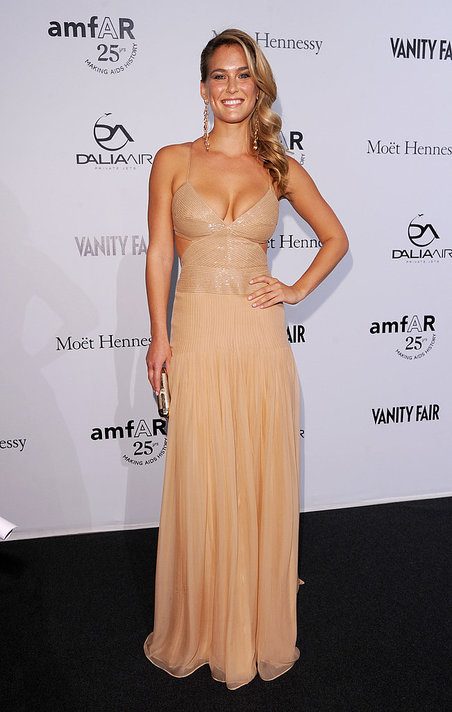Bar Rafaeli stunned in a cutout Escada gown.