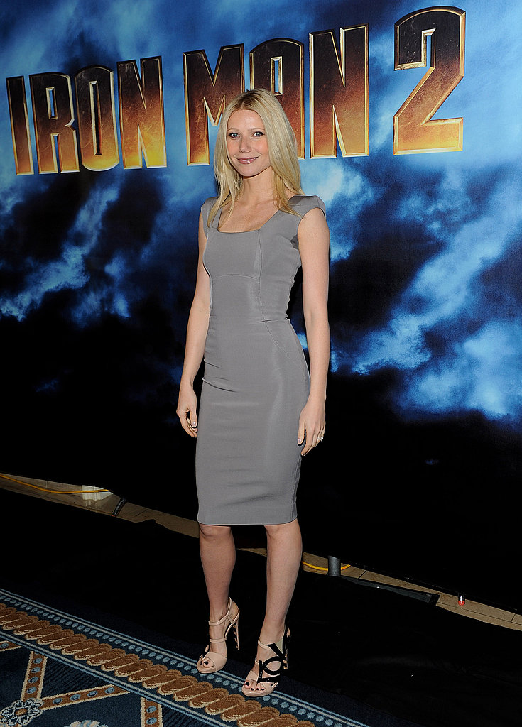 Opting for a curve-hugging Victoria Beckham sheath at the Iron Man 2 premiere in LA in 2010.