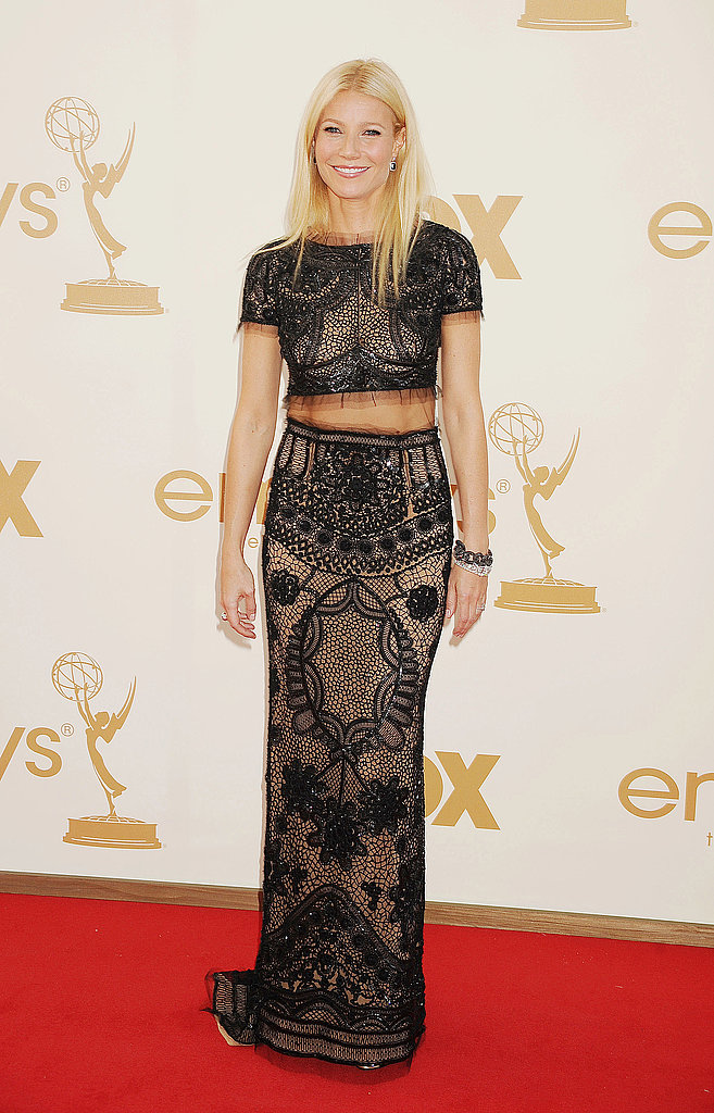 Gwyneth stunned in an embellished two piece Pucci at the 2011 Emmys.