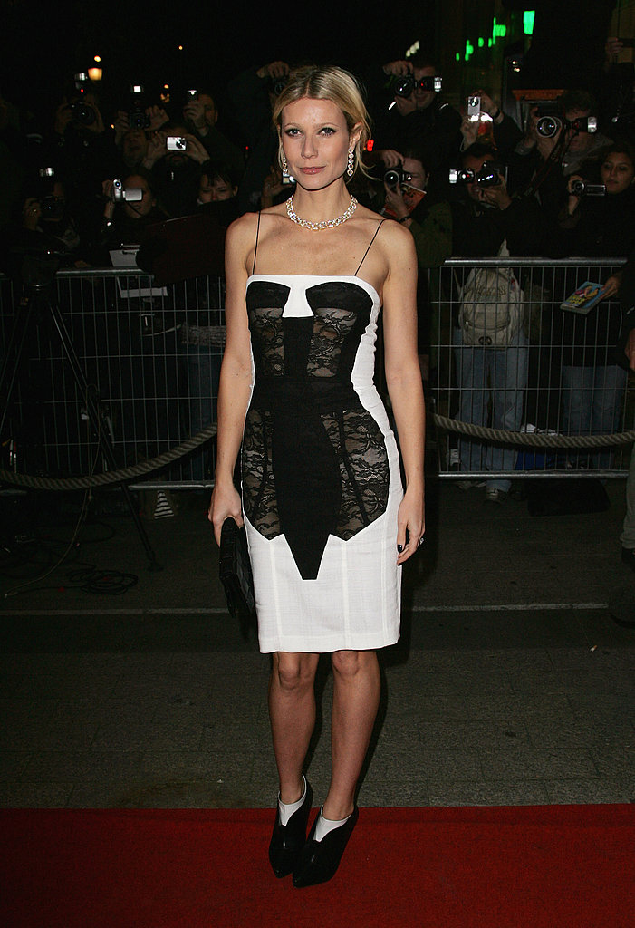 Showing off her curves in a lace-paneled Antonio Berardi dress at the Two Lovers premiere in Paris in 2008.