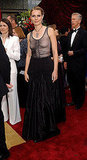 One of her most memorable, going gothic in Alexander McQueen at the 2002 Oscars.