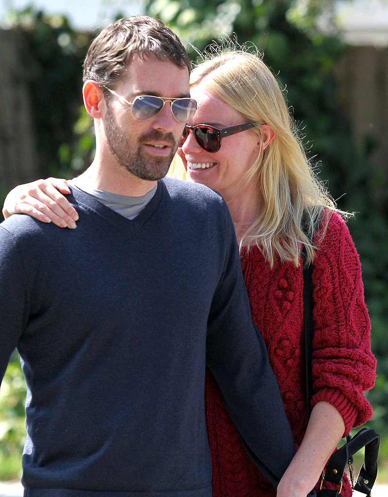 Kate Bosworth held onto Michael Polish after lunch in LA.