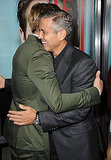 George Clooney and Ryan Gosling hugged.