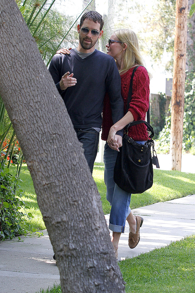 Kate Bosworth and Michael Polish talked while strolling around LA.