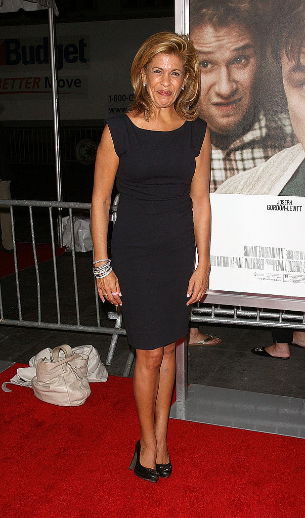 Hoda Kotb wore a black shift dress to the 50/50 premiere.