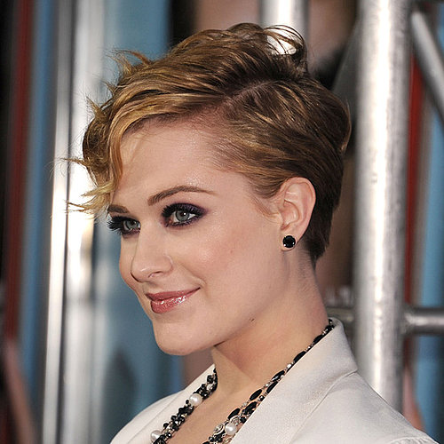 Make Like Evan Rachel Wood and Style Your Short Mane in a Glam-Rock Way