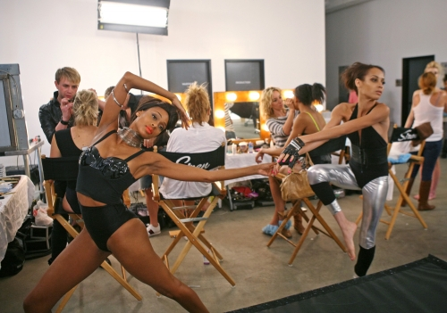 Camille and Isis practiced their poses.  Photos courtesy of The CW
