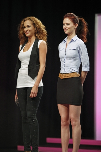 The judges thought Dominique outshone Kayla in their joint photo. Photos courtesy of The CW