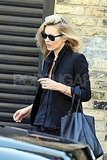 Kate Moss headed to a photo shoot in London.