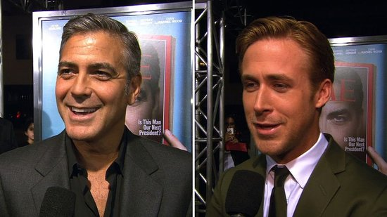 "Video: George Clooney Reveals the Secret to Ryan Gosling's Charm: ""It's the Way He Dresses!"""