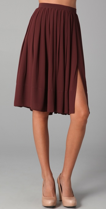 Ladylike, with a subtle nod to sexy. Club Monaco Nanette Skirt ($170)