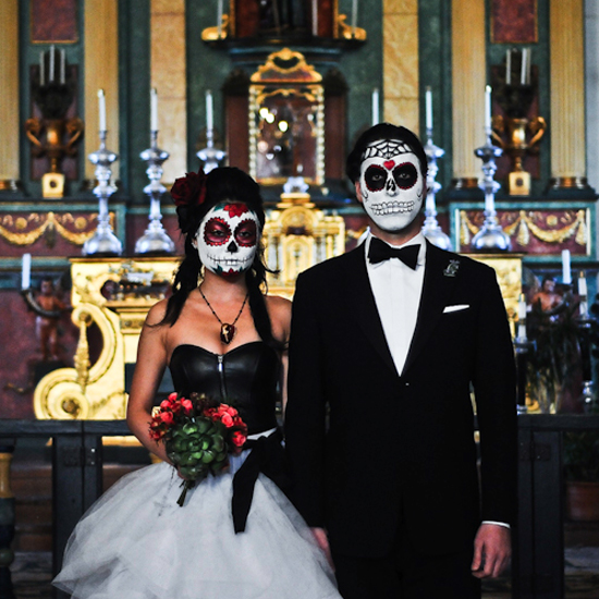 Halloween Wedding Inspiration For a Spooky Big Day