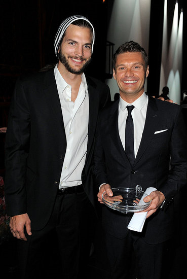 Ashton Kutcher and Ryan Seacrest had matching smiles at the LA Promise Gala honouring Ryan Seacrest on Sept. 27.