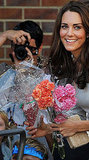 Kate Middleton received flowers at the opening of a children's cancer center.