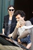 Orlando Bloom with son Flynn and wife Miranda Kerr in Paris.