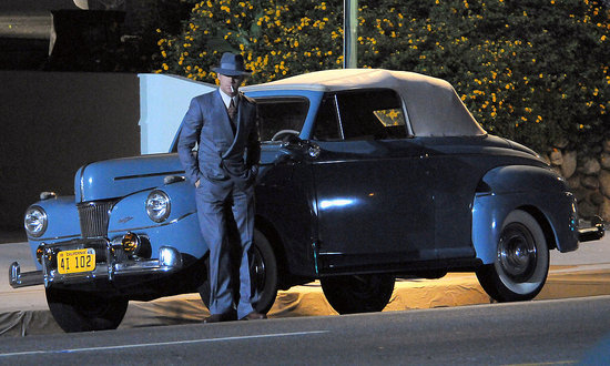 Ryan Gosling had a costar in a classic car.