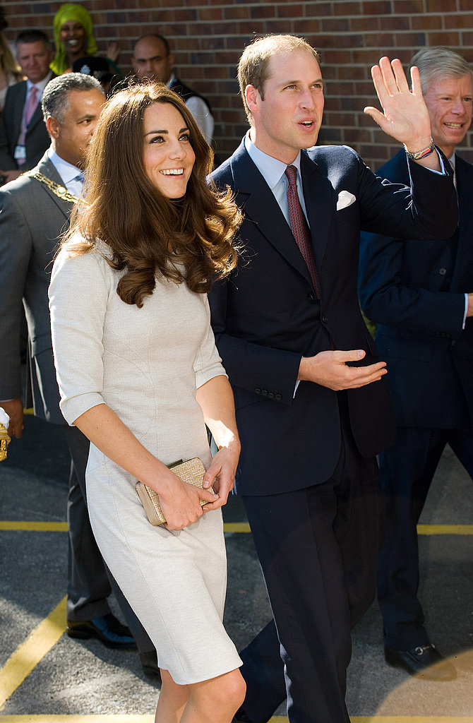 Prince William waved to fans as he made his way to the Oak Center For Children and Young People with Kate Middleton.