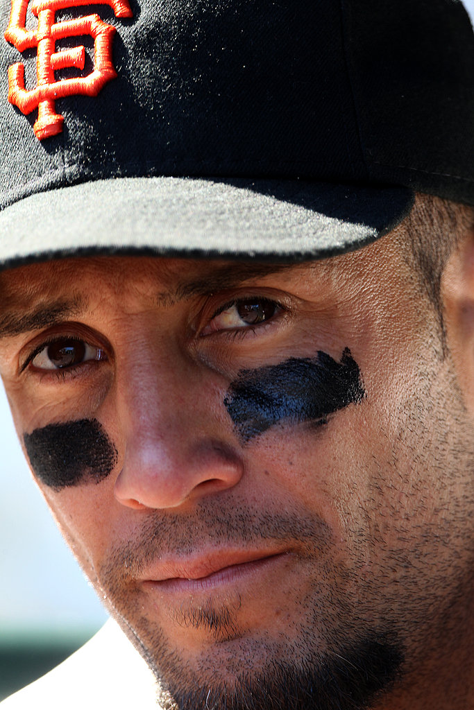 Andres Torres of the Giants looks emotional.