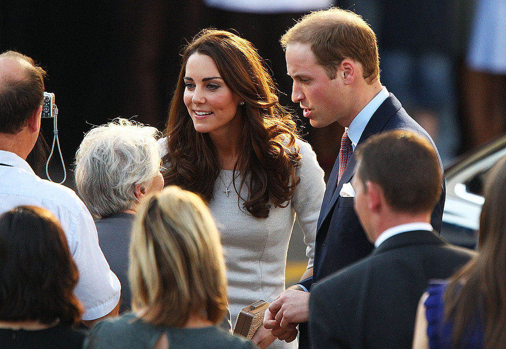 William and Kate greet people at the event.
