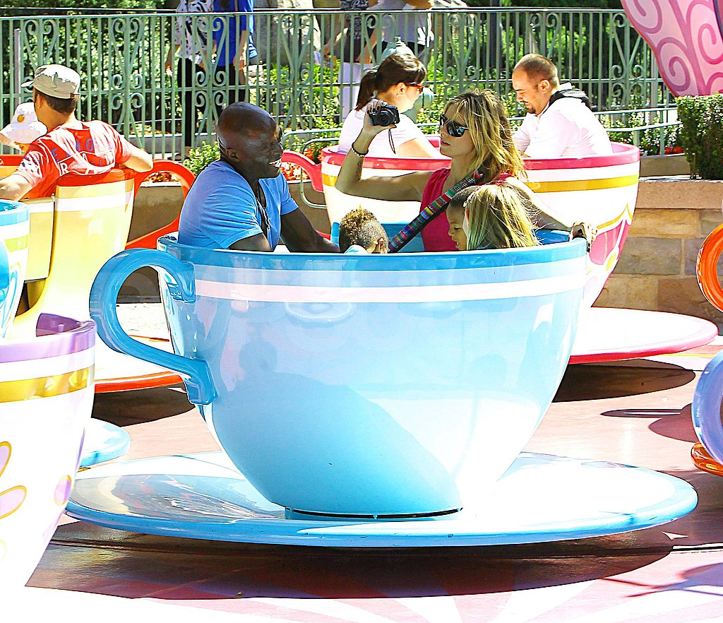 Heidi Klum and Seal with their kids at Disneyland.