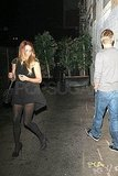 Derek Hough walked Lauren Conrad out of the club.