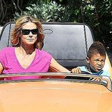 Heidi Klum and Henry together at Disneyland.