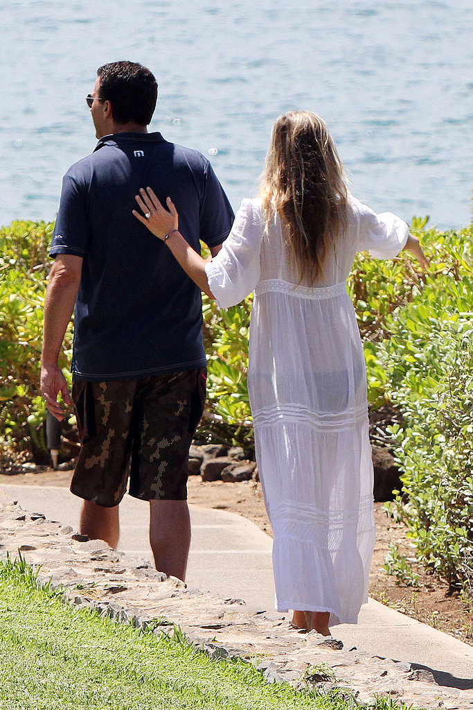 Molly Sims and husband Scott Stuber on their honeymoon.