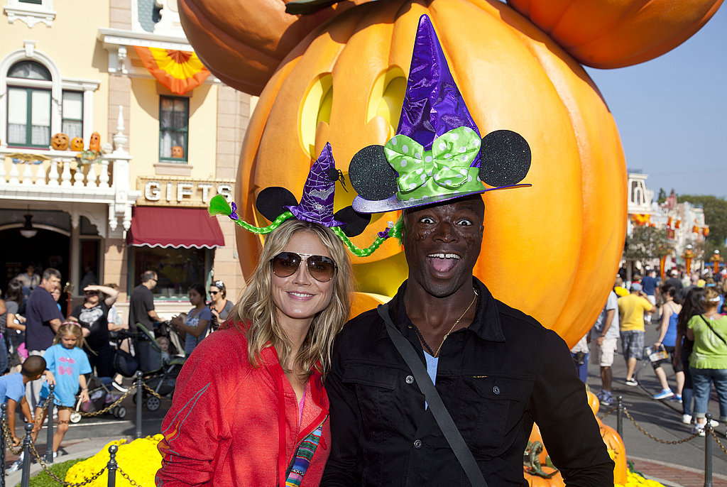 Heidi Klum and Seal together at Disneyland.
