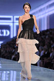 Miranda Kerr on the runway at the Dior show.