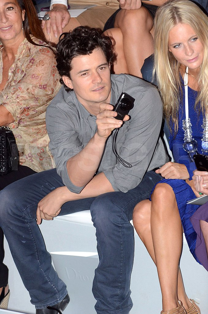 Orlando Bloom documents the Dior show.