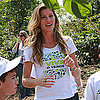 Gisele Bundchen Planting Trees With Kids in Brazil Pictures