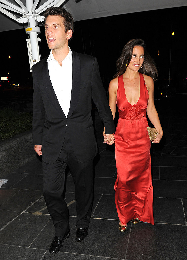 Pippa Middleton and Alex Loudon wrap up a fancy night.