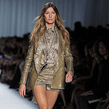 Gisele Bundchen during Paris Fashion Week.