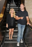 Jessica Simpson at Macy's with fiancé Eric Johnson.