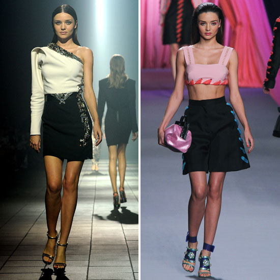 Miranda Kerr Returns to the Catwalk For Lanvin and Viktor + Rolf